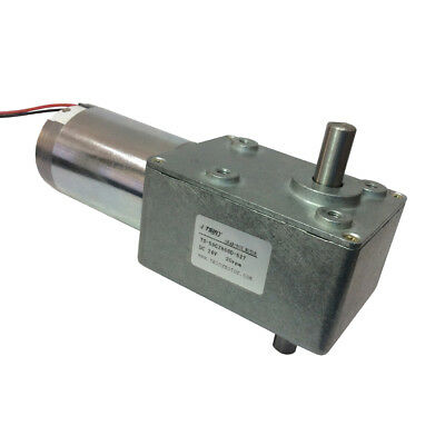 High Torque 24v Reversible 20 Rpm Dc Right Angle Gear Motor With Double Shaft
