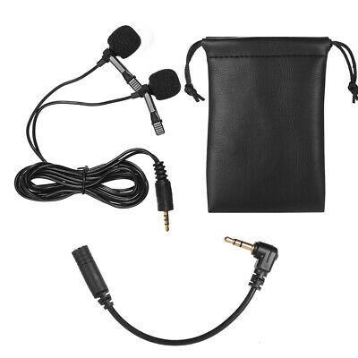 Dual-head Lavalier Lapel Omnidirectional Clip Microphone Mic for Smartphone D3R0](lapel mic for smartphone)