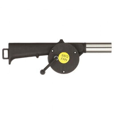 GrillChef Grillgeblaese, Handbetrieben, schwarz/silber BBQ-Fan - Kurbelfunktion