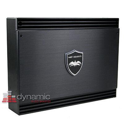 Wet Sounds® SD4 Marine Audio 4-Ch Sinister Class D Speaker Sub Amplifier 1,370W