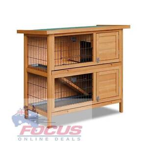 Double Storey Rabbit Hutch with Foldable Ramp North Melbourne Melbourne City Preview