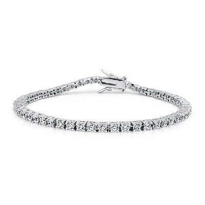 14K White Gold Over Sterling Silver Round Lab Diamond Tennis Bracelet 2.00Ct