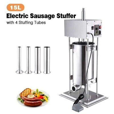 15l Electric Sausage Stuffer Vertical Stainless Steel Meat Filler Restaurant