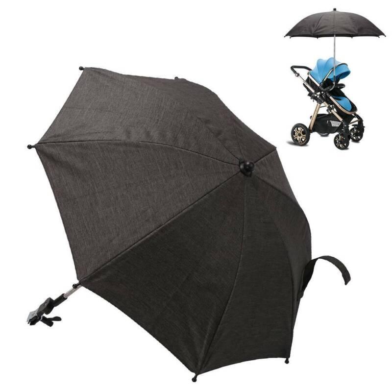 Universal Pushchair Sun Parasol Adjustable Stroller Pram Baby Skin Protection !