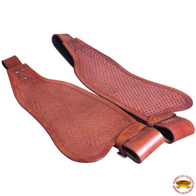 C-N217 Replacement Saddle Fenders Hilason Leather Youth Pair W// Hobble Strap