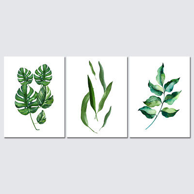 Canvas Prints Wall Art Painting Picture Home Office Decor Green Leaves Large