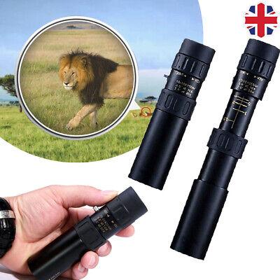 Binoculars 10-30x25 Zoom Monocular Telescope Pocket Hunting Optical Prism