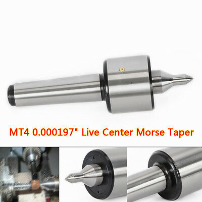 New Mt4 0.01mm Live Center Morse Taper 4mt Triple Bearing Lathe Medium Duty Cnc