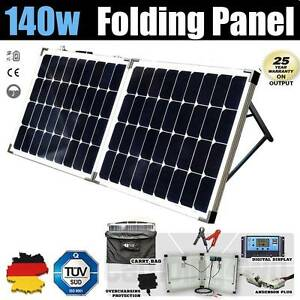 140W 12V Folding Solar Panel Kit + Regulator + Bag Caravan Campin Wangara Wanneroo Area Preview