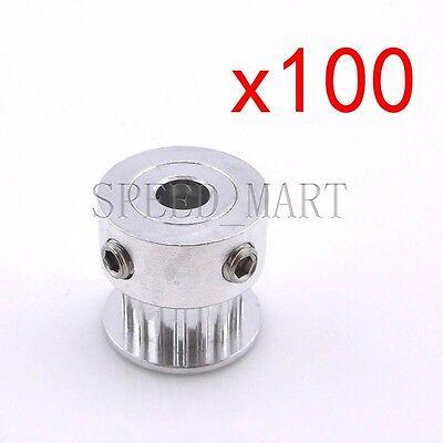 100pcs Gt2 Aluminum Timing Pulleys Reprap Prusa Mendel 3d Printer 16 Tooth Teeth