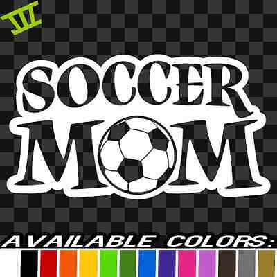 Soccer Mom Sticker Vinyl Decal car truck sticker bumper futbol ball kick girl  - Girls Kick Balls