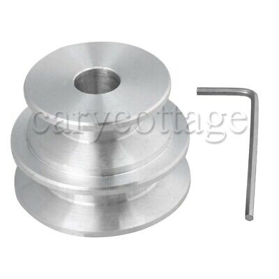 M5 Aluminum 2-step Groove Pulley 40x30x10mm For V Shape Triangle Belt