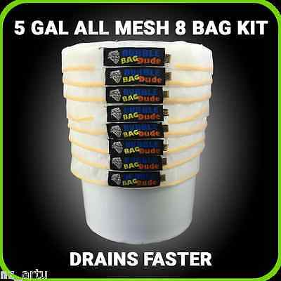 All Mesh Ice Extraction Bubble Ice Bags Extractor 5 Gallon 8 Bag