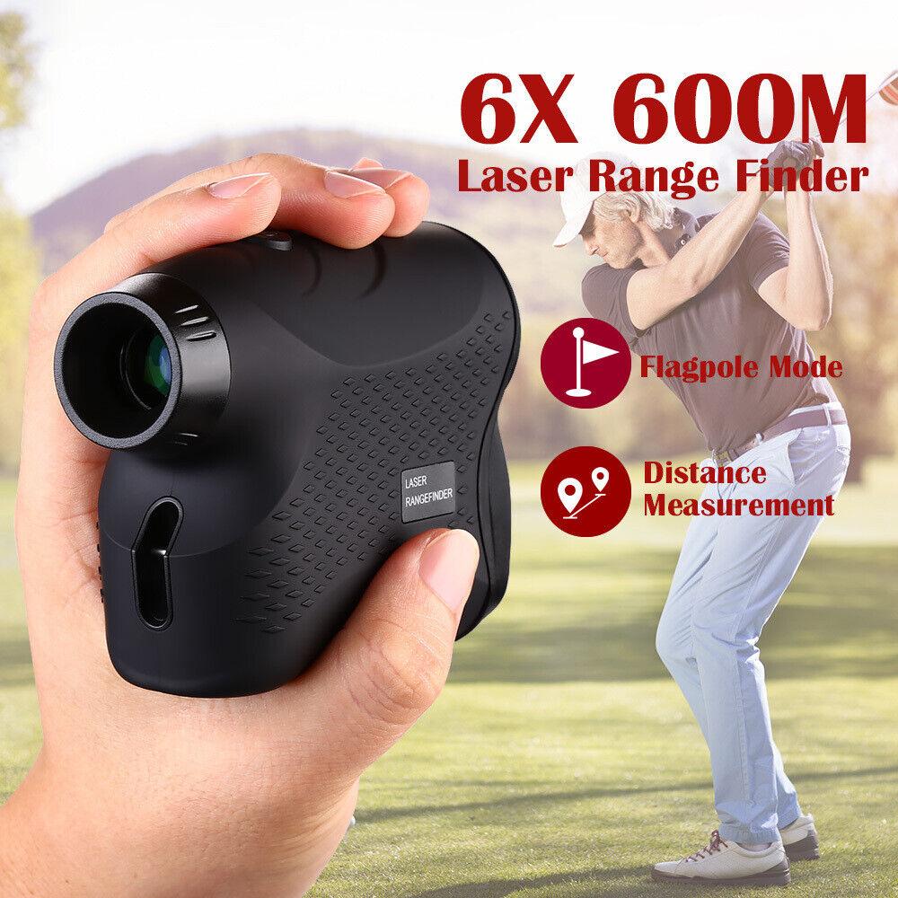 6X 656yards Laser Rangefinder Laser Distance Meter with Pins