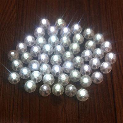 50Pcs Led Ball Lamps Balloon Light For Paper Lantern Wedding Party White..