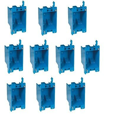 10-pc 14 Single-gang Wall Outlet Switch Old-work Plastic Electrical Box Remodel