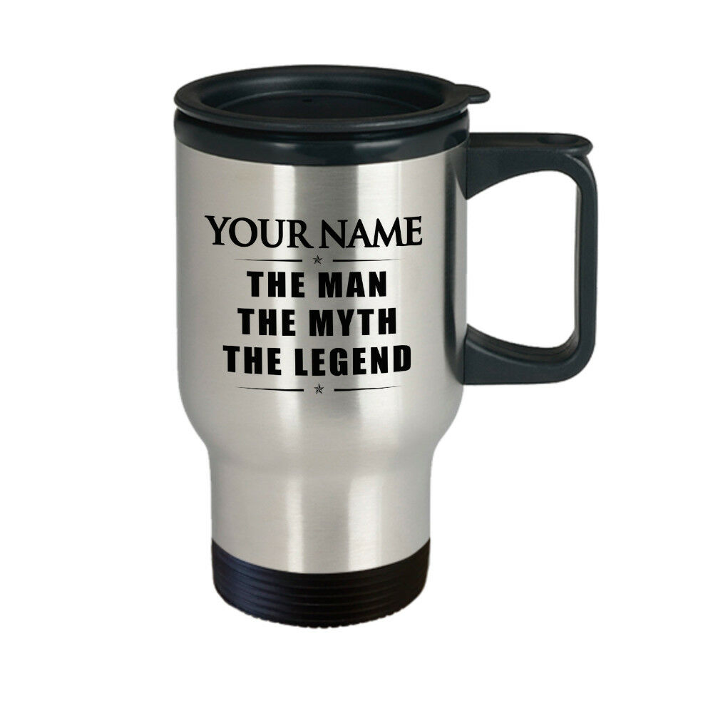 Details About Personalized Mug With Name The Man Myth Legend Travel Gift For Dad