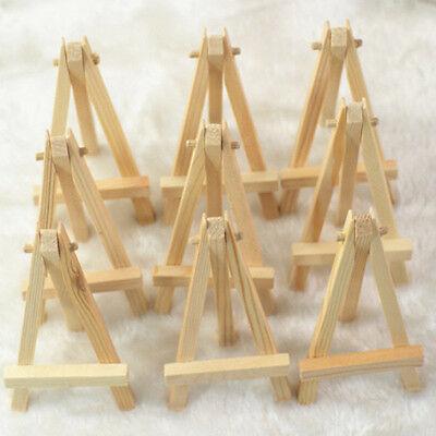 Set OF 10  Display Stand Easel Plate Holder Picture Photo Arts Plastic #HN8
