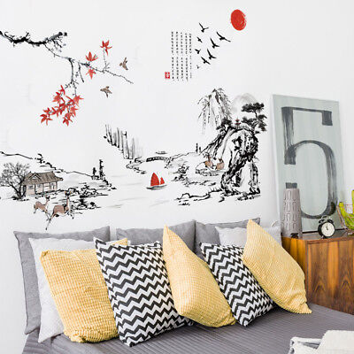 Drake Home Decor DIY Chinese Style Removable Wall Decal Family Home Stickers Mural Art Home Decor Home Sweet Home Decor