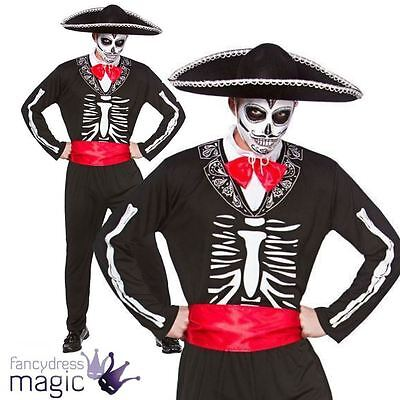 Herren Erwachsene Tag der Toten spanisch mexikanisch Halloween Kostüm