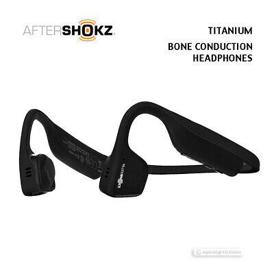 Aftershokz TITANIUM AS600BK Bone Conduction Bluetooth Open Ear Headphones BLACK