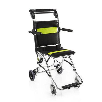 Portable Folding Travel Ultra Light Weight Aluminum Transport Wheelchair, 15 lbs for sale  USA