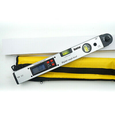 Lcd 225 Electronic Digital Goniometer Angle Finder Double Precision Level 400mm