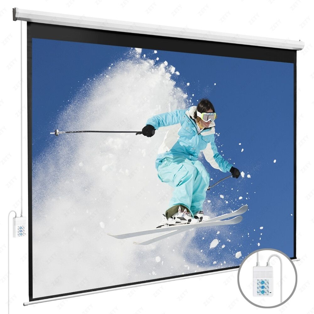100 16 9 electric projection screen pull down projector for Motorized drop down projector screen