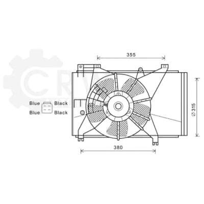 Fan Engine Cooling Radiator Fan Blower Motor Mazda