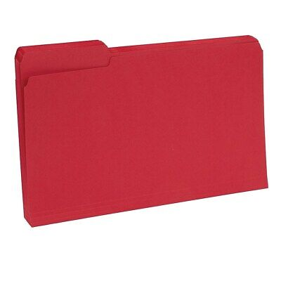 Staples Colored Top-tab File Folders 3 Tab Red Legal Size 100pack 224550