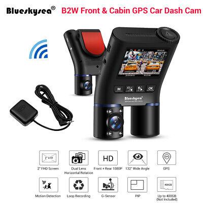 Blueskysea GPS B2W Dual Lens HD 1080P Wi-Fi Car Parking Dash Cam Night Vision