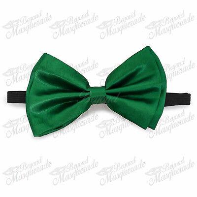 Neon Green Bow Tie Adjustable Pre-tied Clip-on  Bow Tie Necktie - Neon Bow Ties