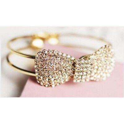 Armreif mit Schleife  Frauenarmband Armband Armbänder Farbe Gold
