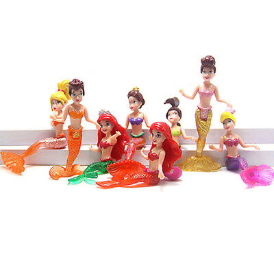 The Mermaid Princess 8 PCS PVC Action Figure Cake Topper Cake Topper Doll Toy US](Mermaid Toy)