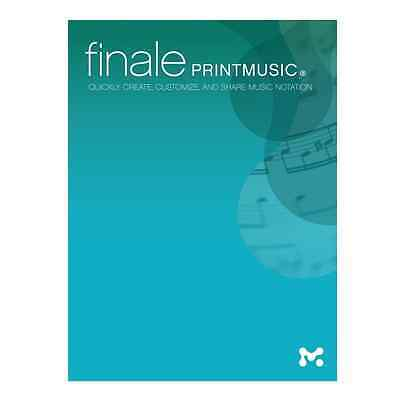 Makemusic PrintMusic 2014 Music Notation Software *Electronic Download