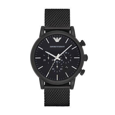 Emporio Armani Sport Chronograph AR1968 Black Stainless Steel Quartz Men's Watc