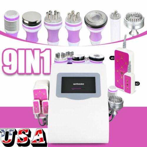 9in1 Ultrasonic Weight Loss Cavitation Vacuum Multipolar Microcurrent RF Machine