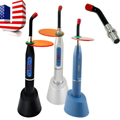 Professional Dental Led Curing Light Lamp Wireless Cordless 2000mw Tip Optional