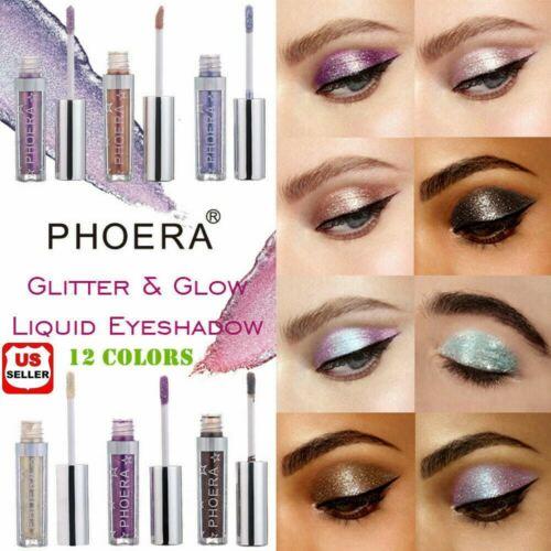 12 colors Eyeshadow Liquid Waterproof Glitter Eyeliner Shimmer Makeup Cosmetics Eye Shadow