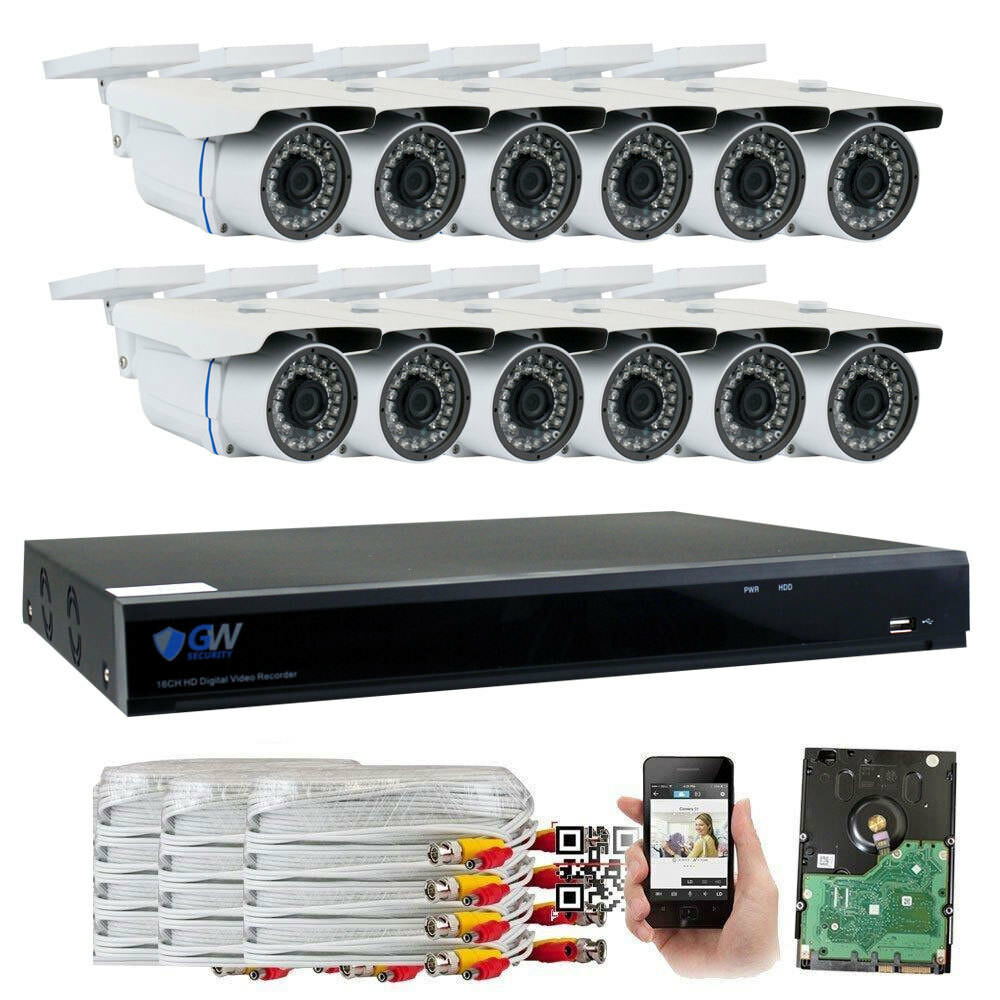 16 Channel DVR  5MP HD 1920p CCTV Weatherproof Bullet Securi