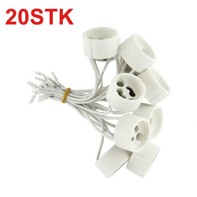 30x GU10 Lampen Fassung mit Aderendhülsen Sockel Halogen LED Fassungen 30 Stück