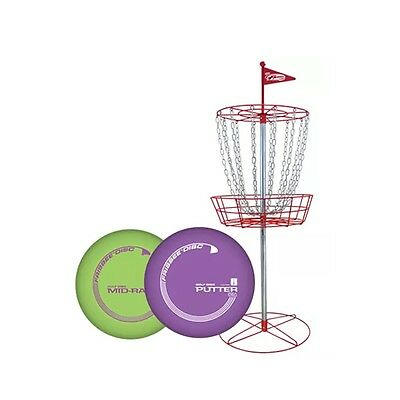 Wham-O PDGA Approved Official Frisbee Disc Golf Set with 6 Discs and Red Target
