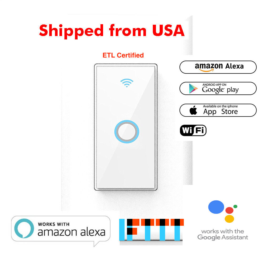 Wi-Fi Wall Switch Compatible with Alexa, Google Home, IFTTT(Tuya/Smart Life)