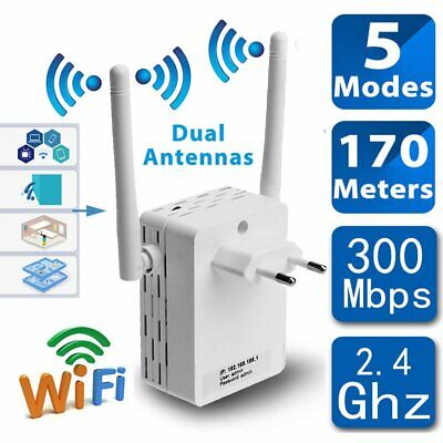 300Mbps Wireless-N Range Extender WiFi Repeater Signal Booster Network Router US for sale  Shipping to Nigeria