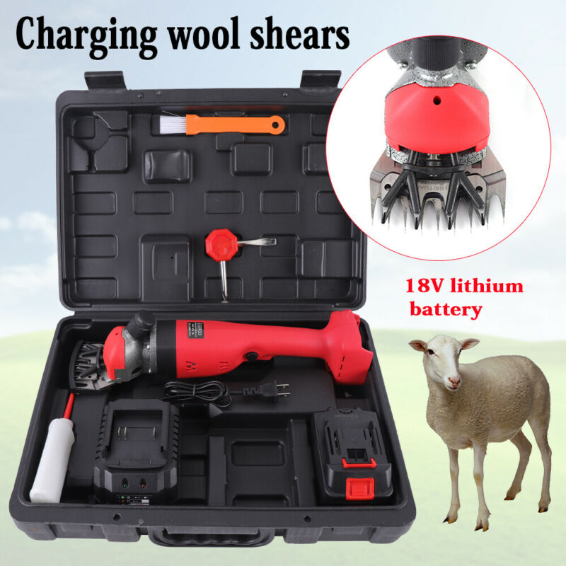 NEW 300W Electric Shearing Supplies Sheep Goat Clippers Animal Shave Grooming