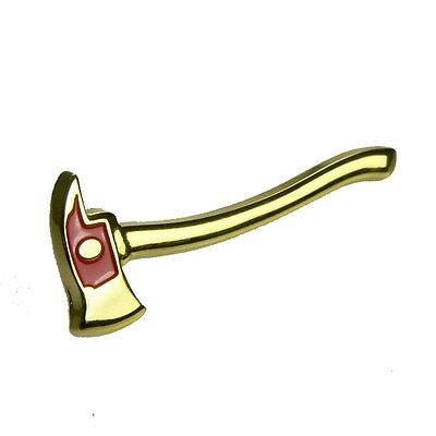 Firefighter Fireman Fire Pick Ax AXE Gold Lapel Hat Pin Tie Tac New Rescue