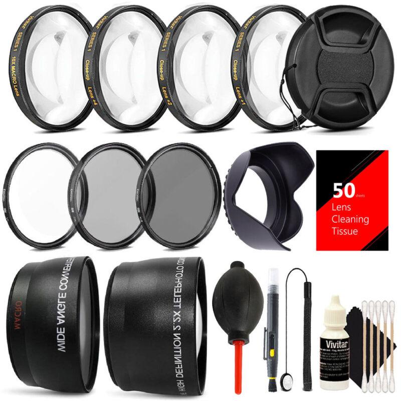 58MM Lens Filter Accessory Kit for CANON EOS Rebel T6i T6 T5i T5 T4i T3i SL1