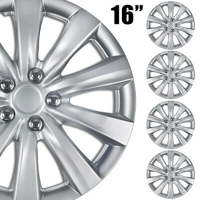 4 pc HubCaps ABS Silver 16