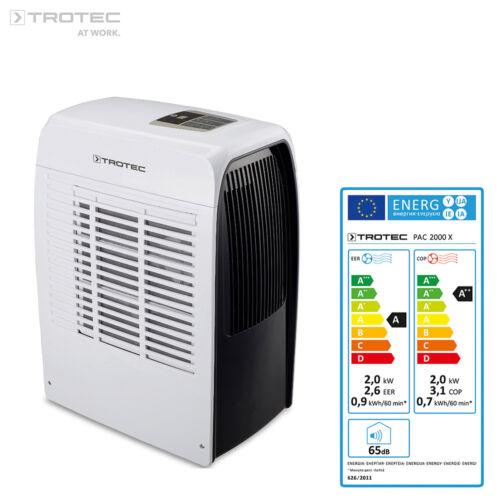 TROTEC PAC 2000 X Lokales Klimagerät Mobile Klimaanlage 2,0 kW/7.000 Btu; EEK: A