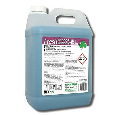 Fresh Deodoriser Concentrate Candy Disinfectant By Clover 223 5L Bin Cleaner
